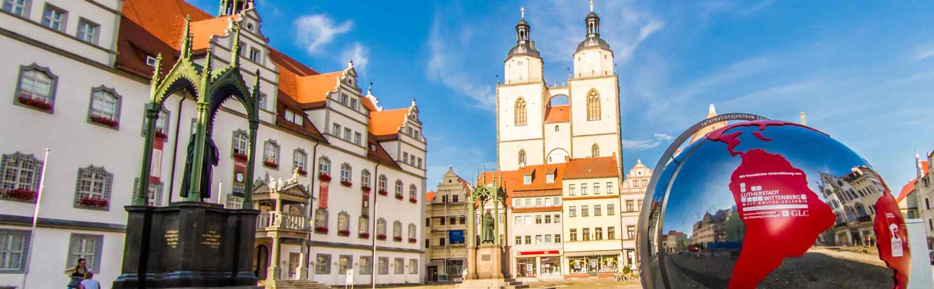 Marktplatz in Wittenberg © Alexander Baumbach