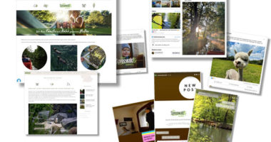Facebook und Instagram Kanäle vom Tourismusverband Spreewald