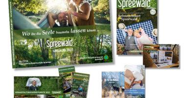 Print-Medien des Tourismusverbandes Spreewald