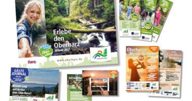 Print-Medien der Tourist-Informationen Oberharz