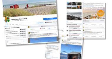 Facebook und Instagram der Tourist-Information Schönhagen